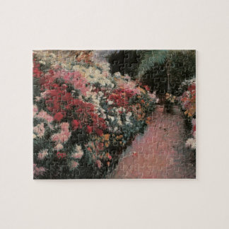 Chrysanthemums by Bunker, Vintage Impressionism Jigsaw Puzzle