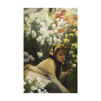 Chrysanthemums by James Tissot Fine Art Canvas Print