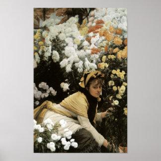 Chrysanthemums by James Tissot Fine Art Print