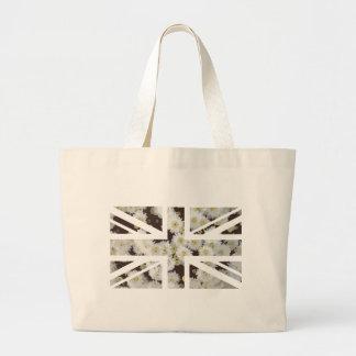 Chrysanthemums Flower Union Jack British(UK) Flag Canvas Bags