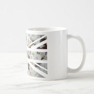 Chrysanthemums Flower Union Jack British(UK) Flag Basic White Mug