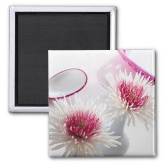 Chrysanthemums Square Magnet