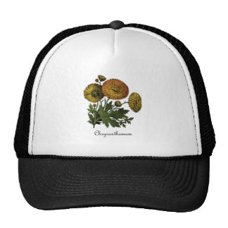 Chrysanthemums Vintage Botanical Trucker Hats