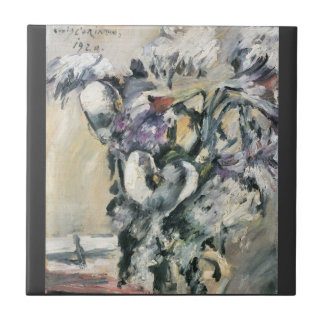 Chrysanthimums and Calla Lillies by Lovis Corinth Tile