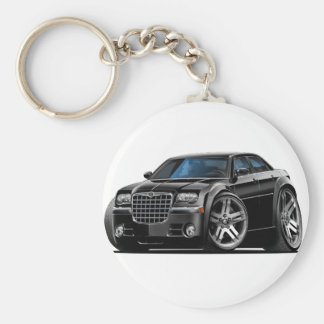 Chrysler 300 Black Car Basic Round Button Key Ring