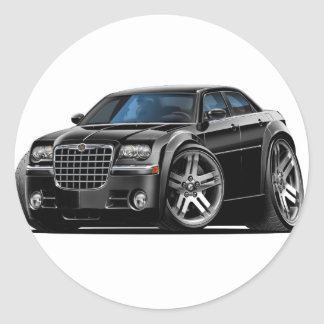Chrysler 300 Black Car Classic Round Sticker