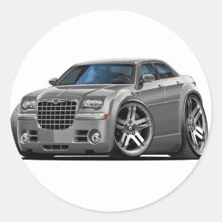 Chrysler 300 Grey Car Classic Round Sticker