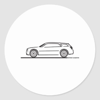 Chrysler 300 Station Wagon Round Sticker