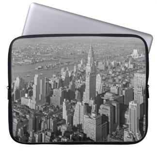 Chrysler Building and Queensboro Bridge NYC 1932 Computer Sleeves