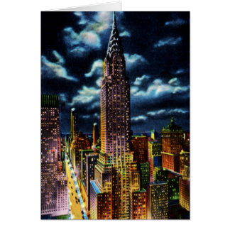 Chrysler Building at Night New York City Card
