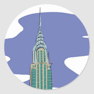 Chrysler Building Classic Round Sticker