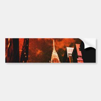 Chrysler Building - Distant Past - New York City Bumper Sticker