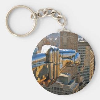 Chrysler Building: Gargoyle Basic Round Button Key Ring