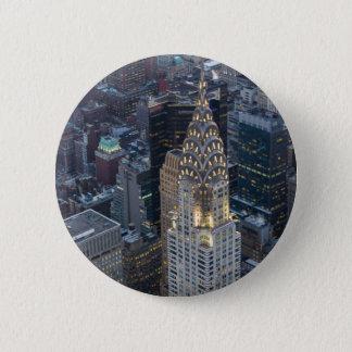 Chrysler Building New York City Aerial Skyline NYC 6 Cm Round Badge