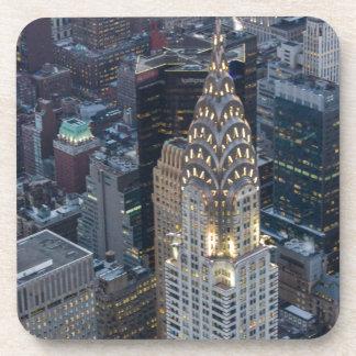Chrysler Building New York City Aerial Skyline NYC Beverage Coaster