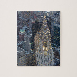 Chrysler Building New York City Aerial Skyline NYC Jigsaw Puzzle