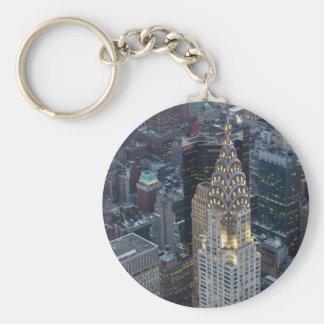 Chrysler Building New York City Aerial Skyline NYC Key Ring