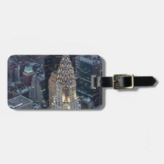Chrysler Building New York City Aerial Skyline NYC Luggage Tag
