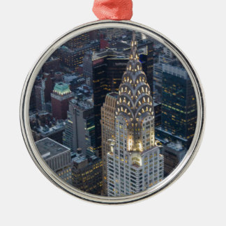 Chrysler Building New York City Aerial Skyline NYC Metal Ornament