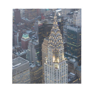 Chrysler Building New York City Aerial Skyline NYC Notepad