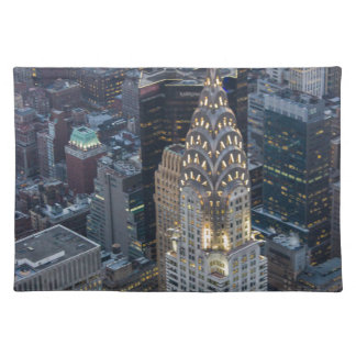 Chrysler Building New York City Aerial Skyline NYC Placemat