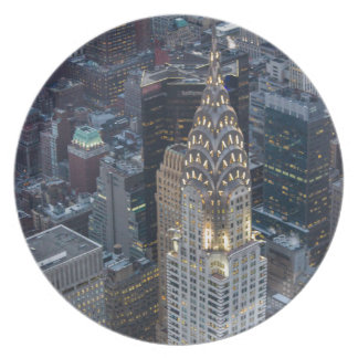 Chrysler Building New York City Aerial Skyline NYC Plate