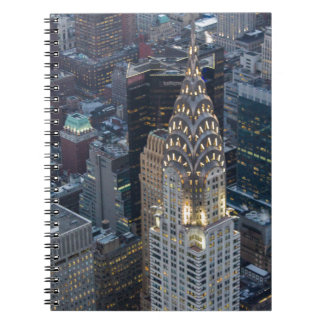 Chrysler Building New York City Aerial Skyline NYC Spiral Note Book