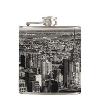 Chrysler Building New York City Skyline Landscape Flask