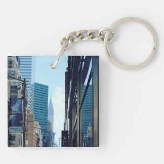 Chrysler Building, NYC Double-Sided Square Acrylic Key Ring