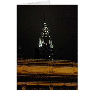 Chrysler Building Over Grand Central Card