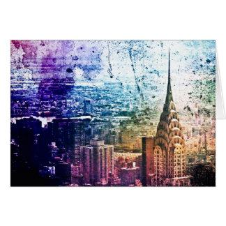 Chrysler Building - Paint Splattered - New York Card
