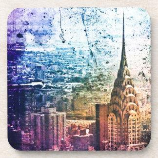 Chrysler Building - Paint Splattered - New York Drink Coasters