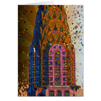 Chrysler Building Top Closeup #1 Card