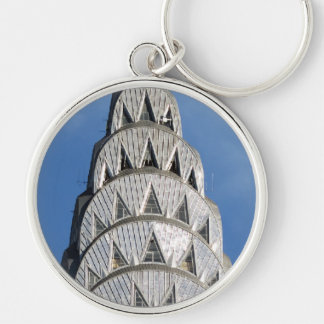 Chrysler Building Windows Silver-Colored Round Key Ring