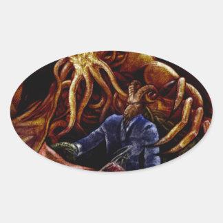 Chthulhu Domine Oval Sticker