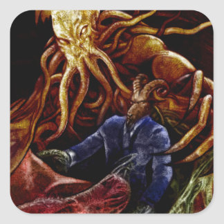 Chthulhu Domine Square Sticker