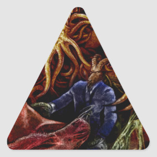 Chthulhu Domine Triangle Sticker