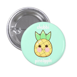 Chubbi Pineapple 3 Cm Round Badge