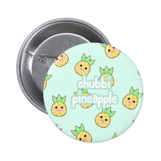 Chubbi Pineapple Pattern 6 Cm Round Badge