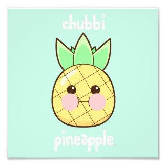 Chubbi Pineapple Photo Print