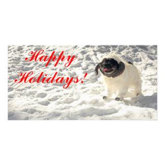 Chubbs The Wampug Happy Holidays Card Photo Card