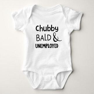 Chubby Bald & Unemployed Funny Baby Bodysuit
