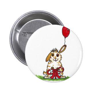 Chubby bunny birthday 'Molly' 6 Cm Round Badge
