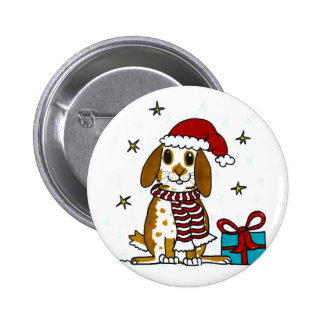 Chubby bunny Christmas design 6 Cm Round Badge