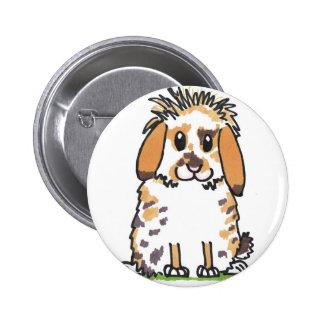 Chubby bunny 'Holly' Design 6 Cm Round Badge