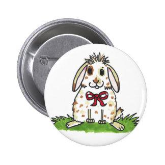 Chubby bunny 'Mini' Design 6 Cm Round Badge