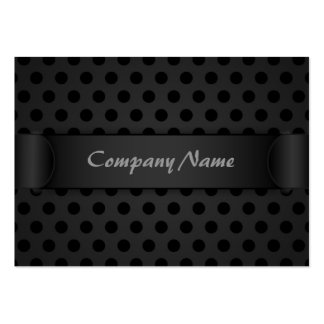 Chubby Business Card Black Polka Dot