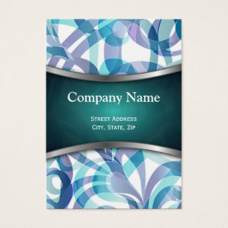 Chubby Business Card Floral abstract background