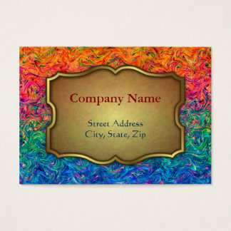 Chubby Business Card Fluid Colors