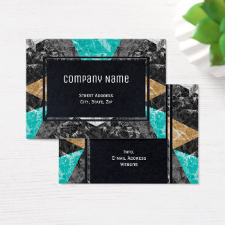 Chubby Business Card Marble Geometric G430